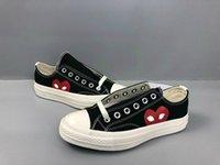 Lüks Klasik Paten Ayakkabı Chuck Tuval Oyun Ortaklaşın Büyük Gözler Yüksek Üst Nokta Kalp Kadın Erkek Moda Tasarımcısı Sneakers Chaussures 02