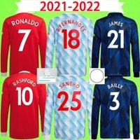 Manchester united jersey Manga longa Manchester cheio 2020 2021 United camisa de futebol UTD camisas de futebol VAN DE BEEK B. FERNANDES jerseys MARCIAL Rashford 20 21
