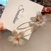 Acessórios de cabelo bordados de mão, flores doces, bangs clipe, lateral fada elegante acessórios bun fabricante