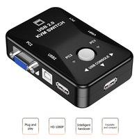 2PORT USB HDMI-совместимый руководство по эксплуатации KVM 2 в 1 из 4K 1080P VGA Splitter Box для обмена монитором мыши клавиатуры HW1701