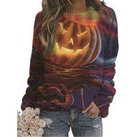 Halloween-Kürbis Laterne Hoodies Frauen-Pullover Print Sweatshirt Trainingsanzug Sport Frauen Shirts Langarm Sweatshirts Pullover Frau 3D Tshirt G890KP9