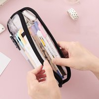 Pencil Cases Large Capacity Case Bag Storage Mesh Pen Stationery Supplies For Kids Adults DU55