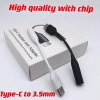Typ-C USB-C-Stecker auf 3,5-mm-Kopfhörer-Kabel Adapter AUX Audio-Buchse für Samsung Note 10 20 plus mit Chip