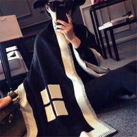 Sciarpa classica classica di alta qualità Sciarpa Sciarpa di modo scialle signore Autunno e inverno Cashmere Sciarpe Écharpe de luxe grande taglia 180 * 90