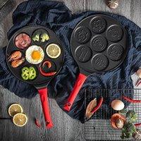 Neue Süße Sieben-Loch-Omelett für Eier Schinken Kuchen Maker Brateien Kreative Antihaft Frühstück Grill Pan Kochen Topf Form A