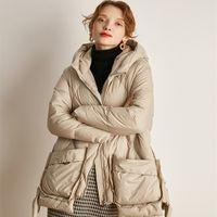 Down jacket women in the long autumn and winter new fashion small design sense niche bread coat