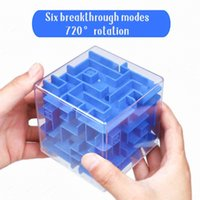 Fun Science and Education Relax Toys Antistress Children's Intelligence Maze Puzzle Educational Toy 3d Maze Gift for Children Q0422
