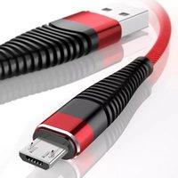 Câble micro USB 1M 2M 3M 2,4A Chargement rapide Nylon tressé Synchronisation de données de données Type C câbles Samsung Galaxy S10