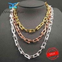 925 Sterling Silver para uso de mujeres Enlace de alta calidad Encanto en forma de U Collar por marca de lujo TIF Joyería