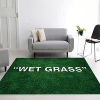 가정용 가구 유행 Ki x VG 공동 마키 라드 젖은 잔디 카펫 플러시 바닥 매트 매트 파리 침실 대형 러그 공급 업체