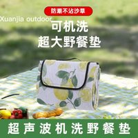 Outdoor Pads Machine Wash Picnic Mat Thickened Damp Proof Waterproof Camping Cloth Beach Supplies