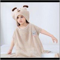 잠옷 의류 아기, 키즈 MaternityCute 만화 두꺼운 샤워 후드 망토 어린이 목욕 수건 아기 옷 CHD202791 드롭 배달 2