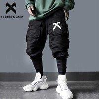11 BYBB's Destacável Multi-Pocket Calças Multi-Pocket Men Harajuku Hip Hop Streetwear Juntos Homem Elástico Cintura De Moletom Techwear 210616