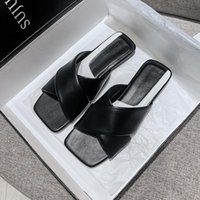 Slippers 2021 Summer Women's Outdoor Flat Roma Style PU Red Black White Large Size Sandals Fashion You Rubber Shoes