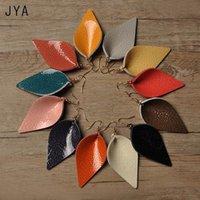 Dangle & Chandelier JYA Genuine Leather Earrings For Women Multicolor Statement Leaf Fashion Jewelry Trendy Pendant Ear Drops 2021