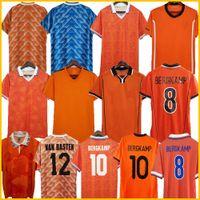 Gullit 1988 Retro Pays-Bas Soccer Jersey 2012 Van Basten 2000 2002 1994 Holland Vintage Camisas de futebol Clássico 1996 Rijkaard Davids 1978