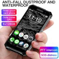 4G 견고한 휴대 전화 얼굴 인식 6GB 64GB 128GB 3800mAh 미니 스마트 폰 Soyesfingerprint NFC PTT Octa IP68 방수 WhatsApp Android 휴대 전화 미국 Europ