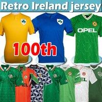 2021 Centenerenering Soccer Jersey 100 주년 기념 레트로 축구 유니폼 90 93 92 94 96 1988 1990 1992 1994 1997 1998 클래식 빈티지 북부 남자 아이 아일랜드