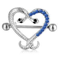D0621-2 (1 cor) Lt.Blue Snake Estilo Anel Botão Botão Body Piercing Jóias Dangle Acessórios Moda Charme (10 pçs / lote) JFB-6160