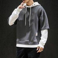 Men's Hoodies & Sweatshirts Japan Style Casual Men Clothing 2021 Spring Autumn Hoodie Sweatshirt Hip Hop High Streetwear Clothes