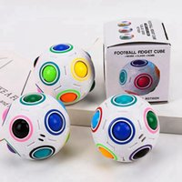 Creative Spheric Magic Rainbow Ball Plastic Puzzle Children Educational Learning Twist Kids Football Fidget Cube Toys CYZ3121