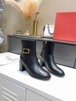 Designer Boots Fashion Autunno Autunno Donne a tacco basso Caviglia Cow Brevetto BEIGE Black Bling Bling Crystal Square Head Zipper Ufficio Studi da donna Scarpe da festa