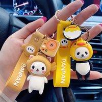 جديد لطيف الكرتون pvc الباندا القط والسوشي الرجال النساء حقيبة سيارة المفاتيح الملحقات السيارات مفتاح سلسلة مفتاح حلقة السراويل مجوهرات الاطفال