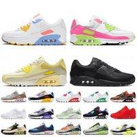 90 max 90 off white Kadın koşu ayakkabıları OG volt yeşil camo temel kırmızı parlak menekşe gerçek erkek eğitmenler spor ayakkabısı