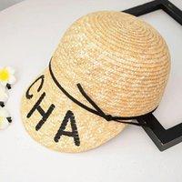 Sun Hats Women'S Summer Hat Straw Protection Women Raffia The Beach Military Cap Octagonal Wide Brim