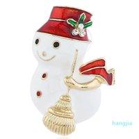 여성을위한 눈사람 브로치 핀 청소 메리 크리스마스 빗자루 브로치 크리스마스 선물 핀 쥬얼리 소녀 스카프 버튼