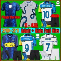 Homens + Kid Kit 2021 Inter Miami Barella Soccer Jersey 21 22 Lukaku Milão Vidal Lautaro Eriksen Alexis Hakimi de Vrij Forma Futebol Camisa