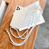 Cell Phone Cases Capa de celular com cordão, cordão para For APPLE iphone 12 pro max mini 11pro xsmax x xr x 7 8 plus se20