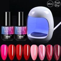 Nail Art Kits Mini Lamp Egg Shape Dryer With Gel Polish Manicure Set Kit Profesional UV LED Soak Off Varnish ToolsNT1579