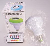 Smart E27 RGB Bluetooth Speaker Bulb Light Music Playing Dimmable Wireless Led Lamp with 24 Keys Remote Control