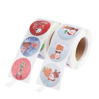 500pcs roll Christmas Sticker 16 Designs Pattern Cartoon For Kids Toys Gift Waterproof Adhesive Labels Wrap
