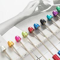 Творчество персонализированные добавить бисер с бисером ручка воды капля воды DIY бисерный металлический балпен ручной работы сердца ювелирные изделия украшены ручка GGA4638