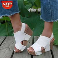 Women Sandals 2019 Platform Wedges Shoes For Heels Sandalias Mujer Summer Leather Wedge #aA3a