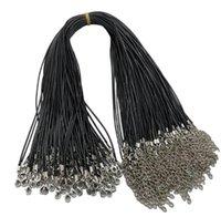 2021 3mm Black PU Cordón de cuero Cuerda de la cuerda Cuerda de la cuerda Corriente de langosta para la joyería del collar del artesanía de DIY 20 '' 22 '' 24 ''