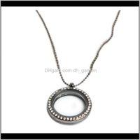 Kolye Jewelryfloating Bellek Madalyon Kolye Yuvarlak Oturma Manyetik Cam Lockets Kolye PS1319 Bırak Teslimat 2021 5BM8J