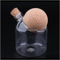 Cocina de vidrio Bote Crystal Clear Food con tapón de corcho Encimera limpia y ordenada Botellas de Sanmo BVQ5E