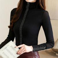 Women's Blouses & Shirts Womens Tops And Fashion Woman 2021 Autumn Long Sleeve Turtleneck Blouse Women Plus Size Blusas A564
