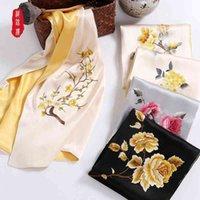 Brocade budynek żeński morwy szalik ręka prezent Suzhou haft jedwab z małym szalem
