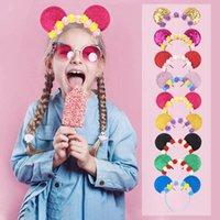 Kızlar Saç Aksesuarları Sticks Bebek Bantlar Çocuklar Aksesuar Çocuk Tatil Doğum Günü Partisi Çiçek Kafa Bantları Prenses Kafa B6982