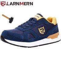Ларнмерные мужчины Безопасная обувь Легкая дышащая стальная носящаяся обувь для мужчин Светоотражающая антисеменная строительная талка 211025