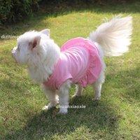 Sz primavera verão filhote de cachorro multicolorido gato mini princesa vestido saia t-shirt saia aparições outfits outwear