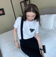 2021SS 파리 패션 디자이너 여성의 짧은 소매 티셔츠 순수 면화 편안한 PRD 남성 자켓