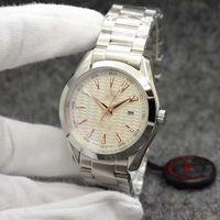 AQUA TERRA 150M Limited Diale Часы 44 мм кварцевый океан Нержавеющая сталь Спортивные моря мужские часы
