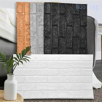 Thickened 3d brick pattern wall sticker stereo wallpaper self-adhesive waterproof paper Anti-collision home decoration