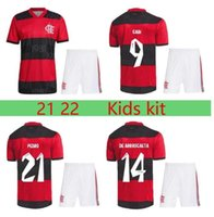 Kit Kit CR 2021 2022 Flamengo Home Jerseys de futebol Camisetas de Fútbol 22 Flamenco Gabriel B. Diego Pedro Gerson Kit Kit Camisa de futebol