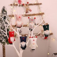 Christmas Decorations Faceless Old Man Pendant Christmas Tree Ornament Creative Doll 6 styles Xmas Gifts RRB11142